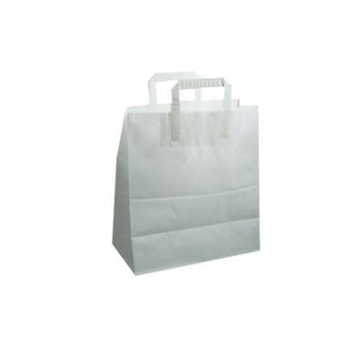 Bærepose papir hvid 26L 32x40cm 200stk