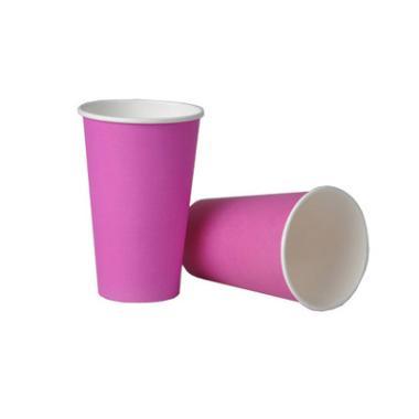 Kaffebæger retro pink 40cl 50stk