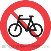 Cykel Forbudt 50cm C25.1 tavle