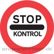 Stop Kontrol 70cm C92 tavle