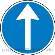 Påbudt Kørsel 50cm D11.1 tavle