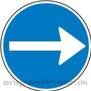 Påbudt Kørsel 70cm D11.3 tavle