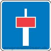 Blind vej m/stianl 30cm E18.1