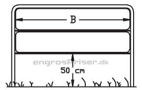 Lav dobbeltgalge 2x H33xB150cm LG1