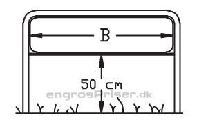 Lav galge H40xB125cm LG1