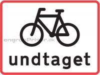 Cykler undtaget V hvid 50x50cm U5.1
