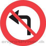 Venstresving forbud 50cm dobb.