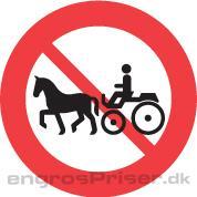 Hestevogn Forbudt 50cm dobb