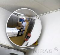 Spejl konveks 30cm rund hvid