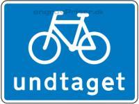 Cykler undtaget H blå 50x50cm U5.3