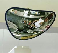 Spejl trekantet 33x33x35 sort