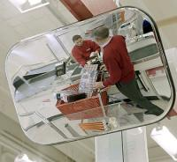 Spejl konveks 40x60cm sort