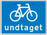 Cykler undtaget H blå 50x50cm U5.4