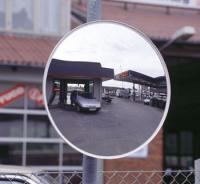 Trafikspejl rund Ø80cm u/ramme