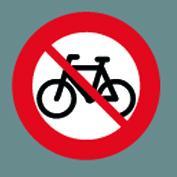C25.1 Cykel forbudt klæb Ø75cm