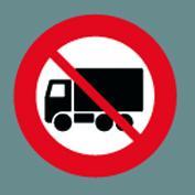 C23.1 Lastbil forbudt Ø100cm 1 stk